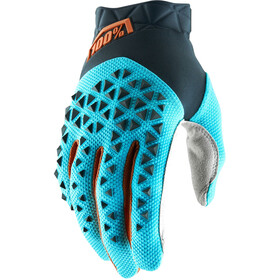 100% Airmatic Gloves steel grey/ice blue/bronze